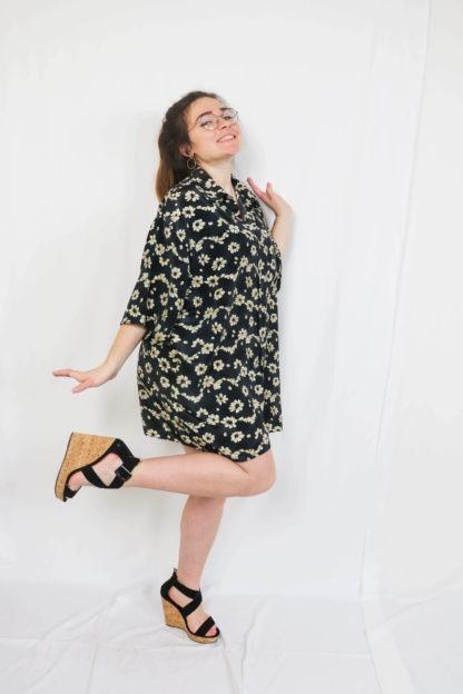 robe-chemise-courtes-motif-fleuri-4