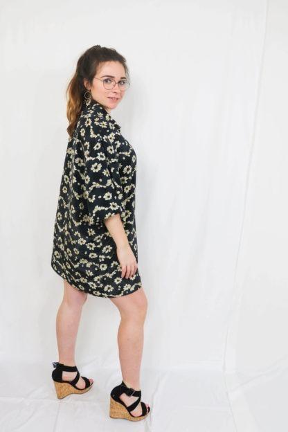 robe-chemise-courtes-motif-fleuri-5