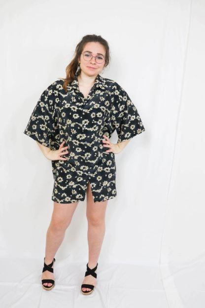 robe-chemise-courtes-motif-fleuri-1