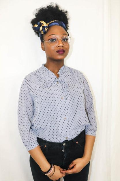 chemise-lilas-pois-1