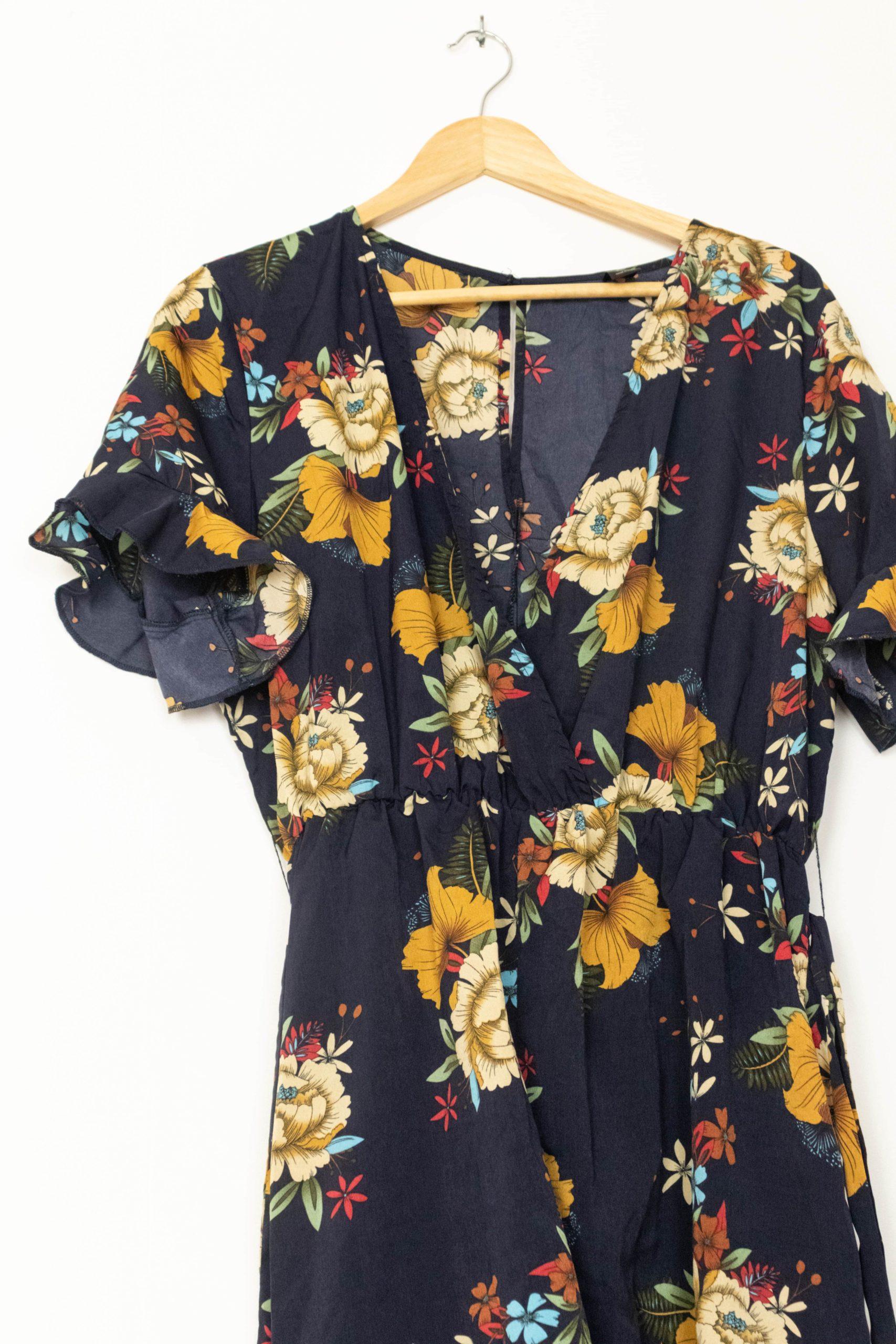 combishort noir motif fleuri (3)