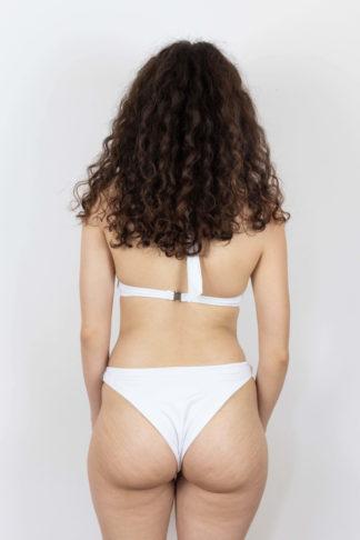 culotte de maillot de bain blanc échancrée (1)