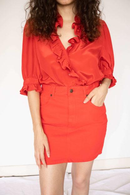 jupe courte rouge (1)