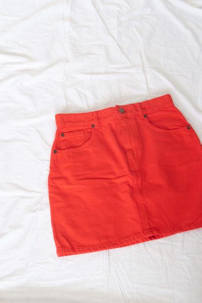 jupe courte rouge (3)