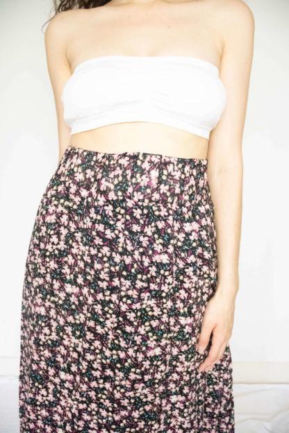 jupe longue noir motif fleuri (2)