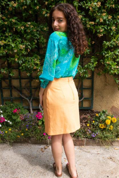jupe moulante abricot (2)