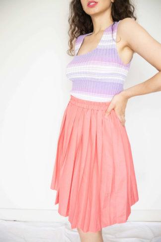 jupe plissée saumon (1)