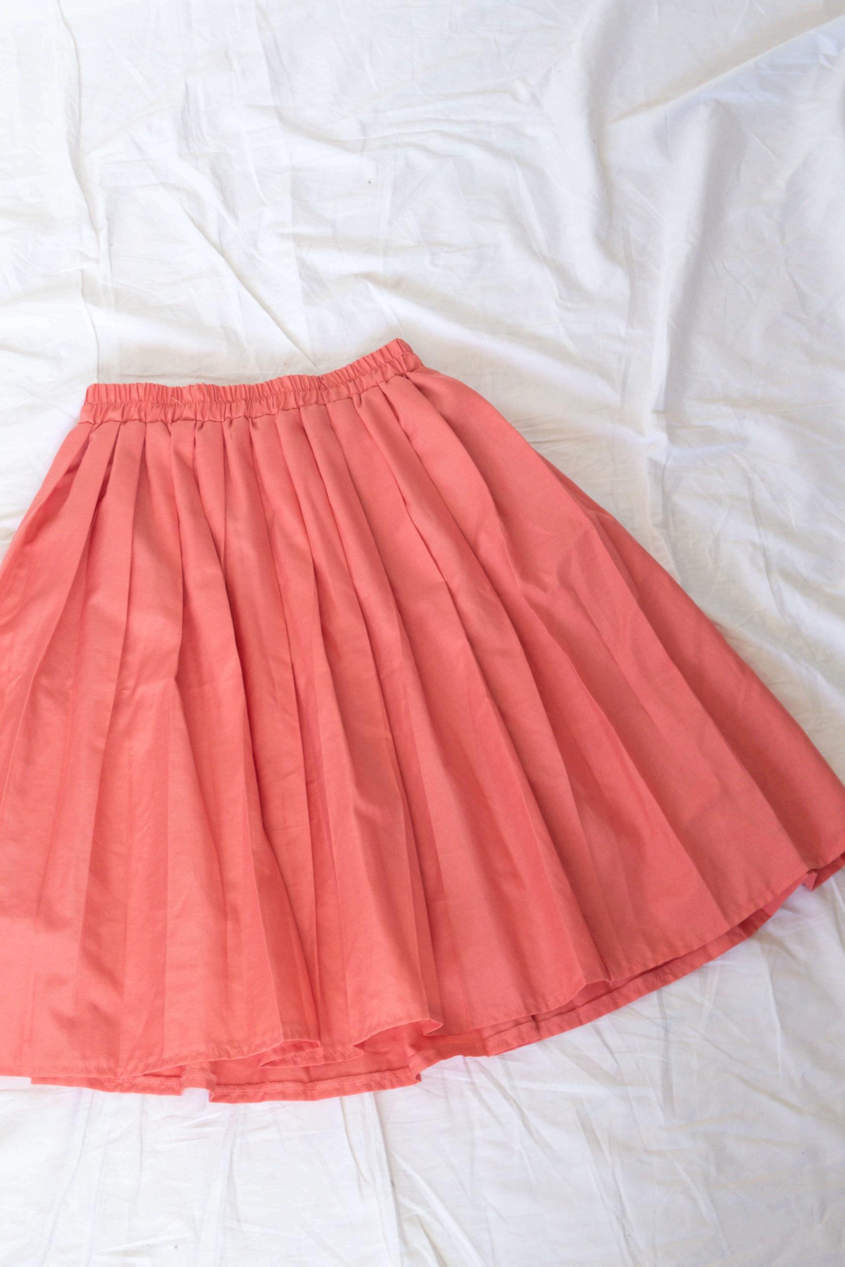 jupe plissée saumon (3)