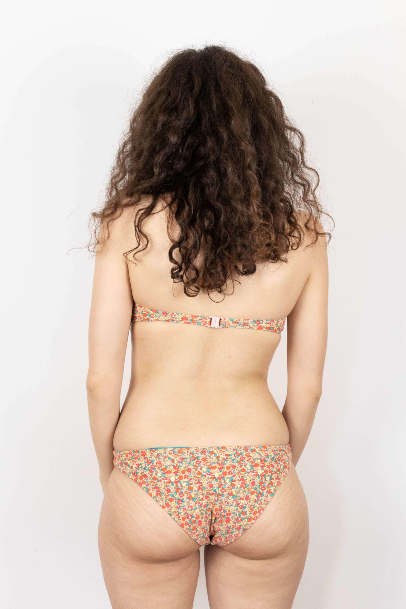 maillot de bain 2 pièces abricot motif fleuri (3)