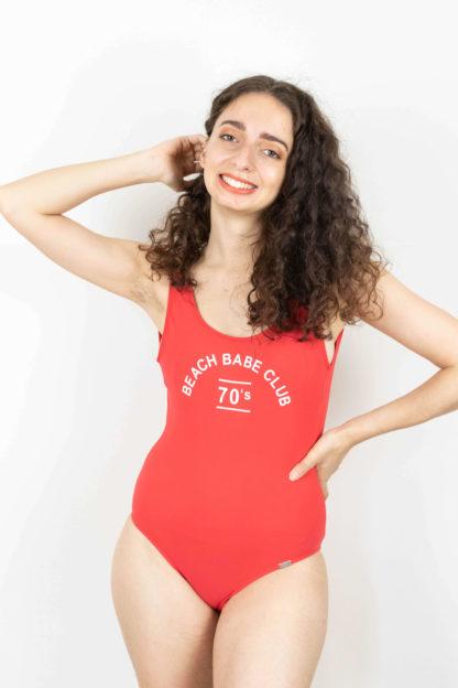 maillot de bain une pièce rouge beach club (1)