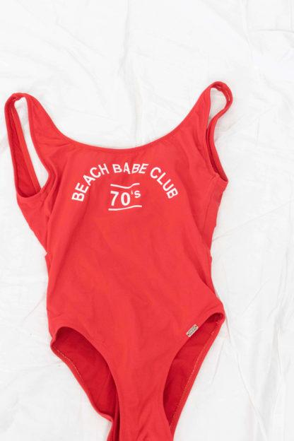 maillot de bain une pièce rouge beach club (3)