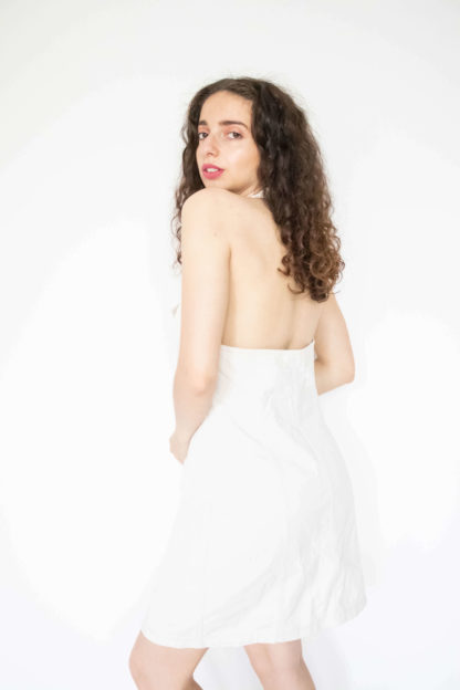 robe blanche en jean dos nu (4)