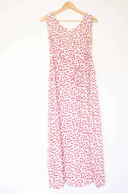 robe longue blanche motif fleuri (3)