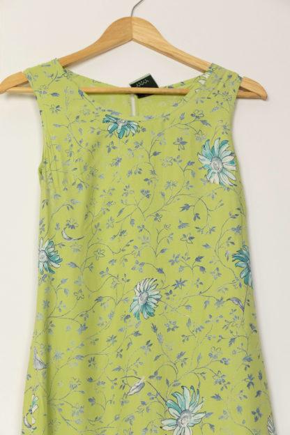 robe longue verte motif fleuri (3)