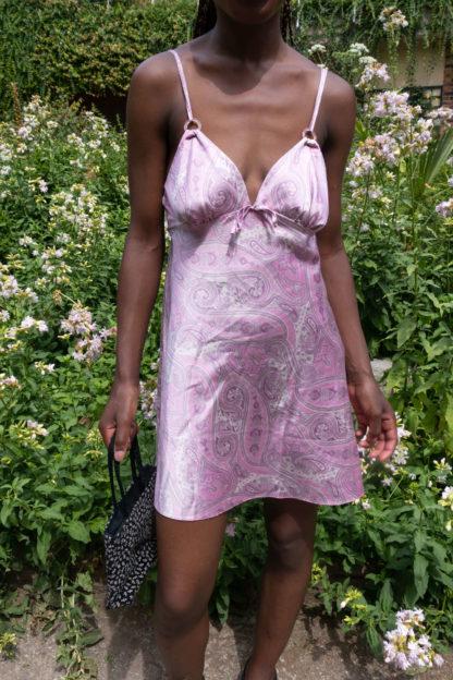 robe nuisette rose motif années 2000 (3)