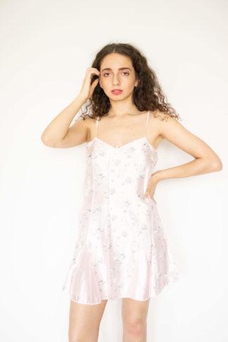 robe nuisette rose poudré motif fleuri (1)