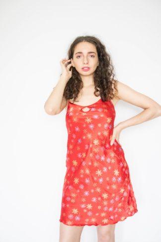 robe nuisette rouge petit décolleté (1)
