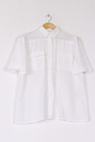 chemise blanche à manches courtes (1)