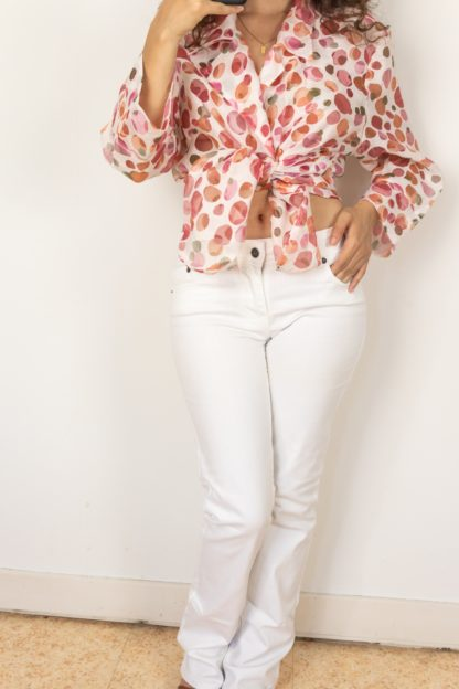 jean blanc mid waist bootcut (1)