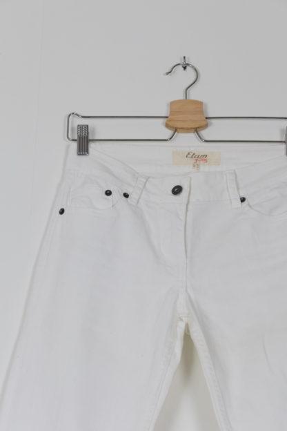 jean blanc mid waist bootcut (6)