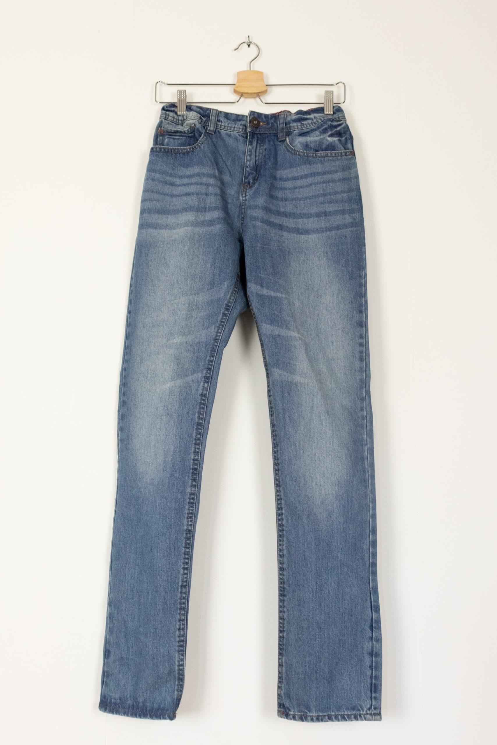 jean slim clair taille haute (3)