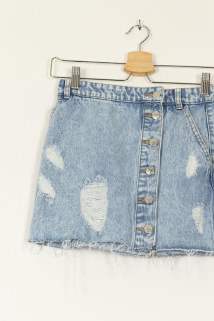 minijupe en jean déchirée (2)