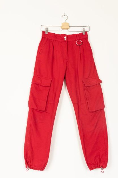 pantalon cargo rouge (5)