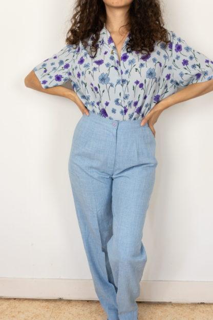 pantalon de costume bleu ciel et blanc (1)