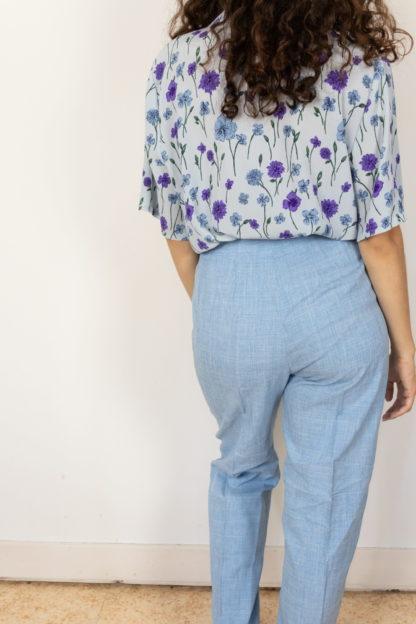 pantalon de costume bleu ciel et blanc (2)