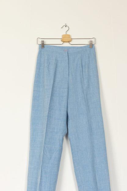 pantalon de costume bleu ciel et blanc (3)