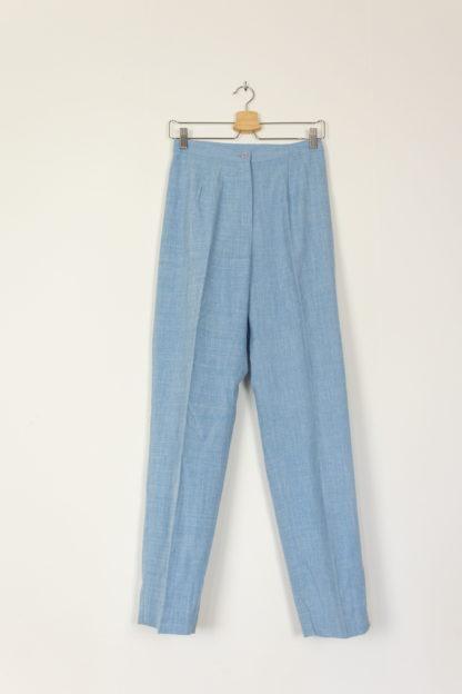 pantalon de costume bleu ciel et blanc (4)