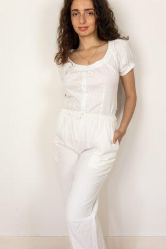 pantalon léger en coton blanc (1)