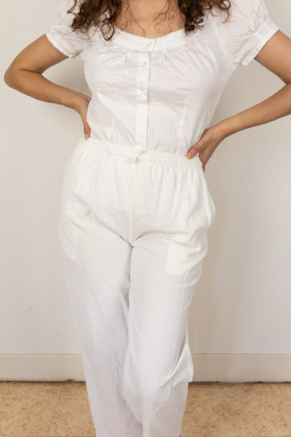 pantalon léger en coton blanc (2)