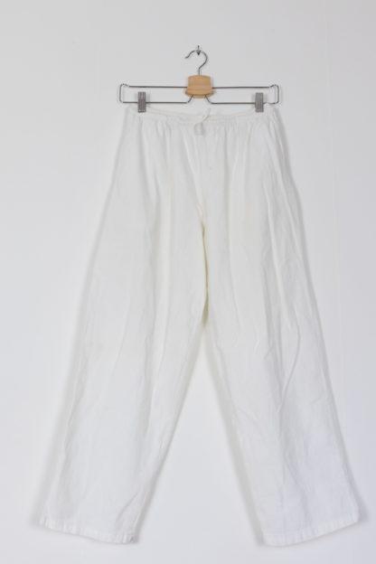 pantalon léger en coton blanc (6)