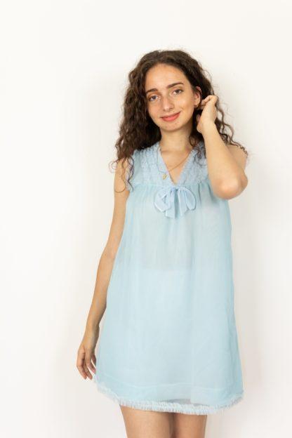 robe nuisette vintage bleu (1)