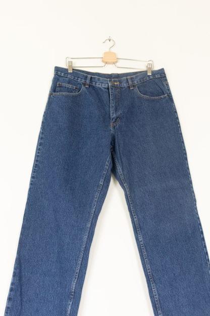 Jean taille haute bleu brut 3