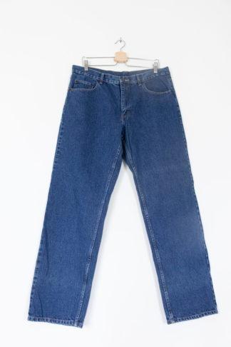 Jean taille haute bleu brut 1
