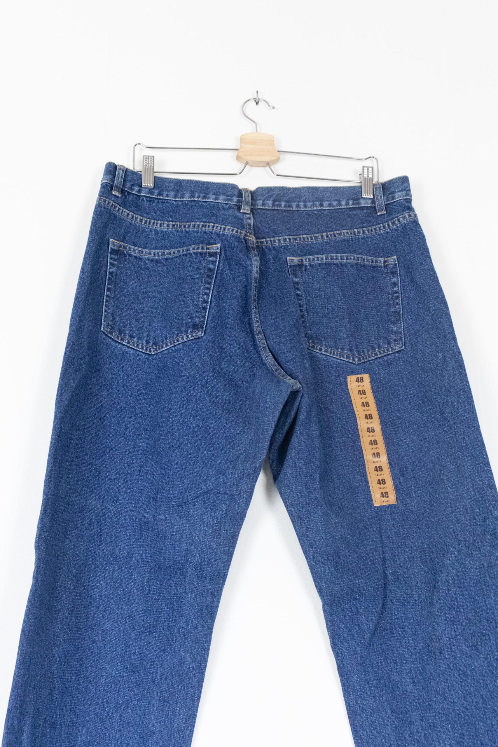 Jean taille haute bleu brut 2