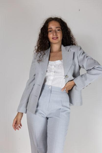 blazer bleu gris coupe vintage (1)