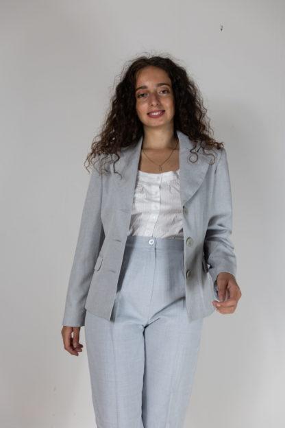 blazer bleu gris coupe vintage (3)