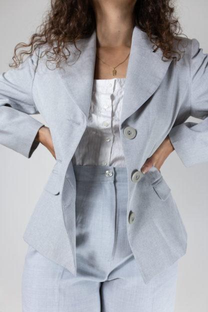 blazer bleu gris coupe vintage (4)