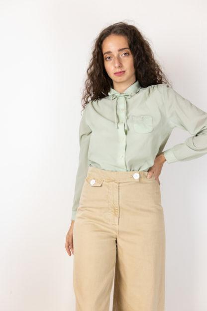 chemise vintage vert pastel (1)