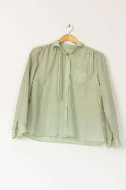 chemise vintage vert pastel (5)