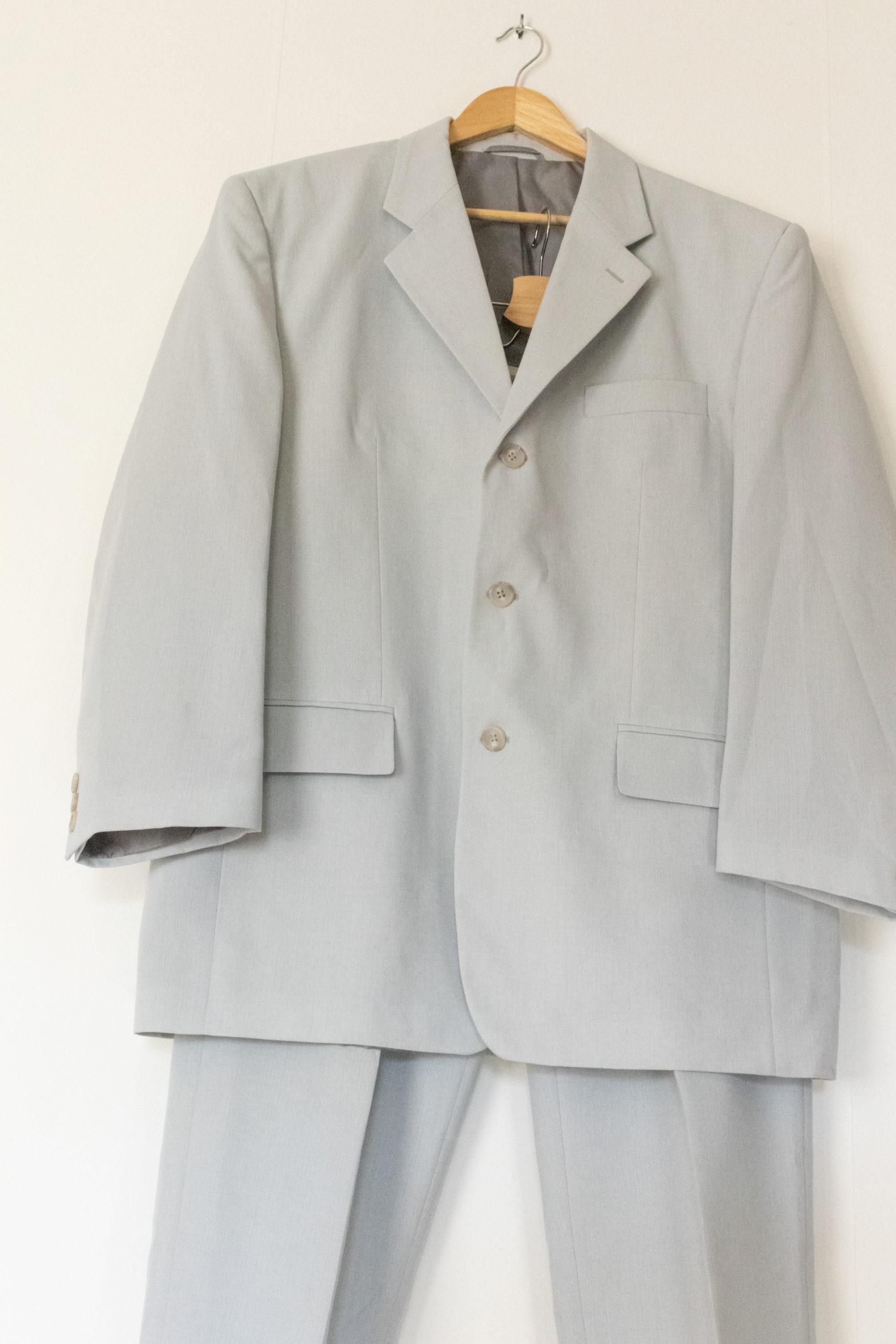 ensemble blazer pantalon bleu ciel (3)