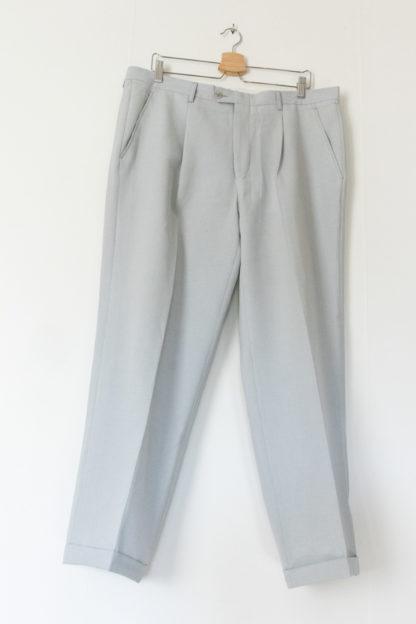 ensemble blazer pantalon bleu ciel (4)
