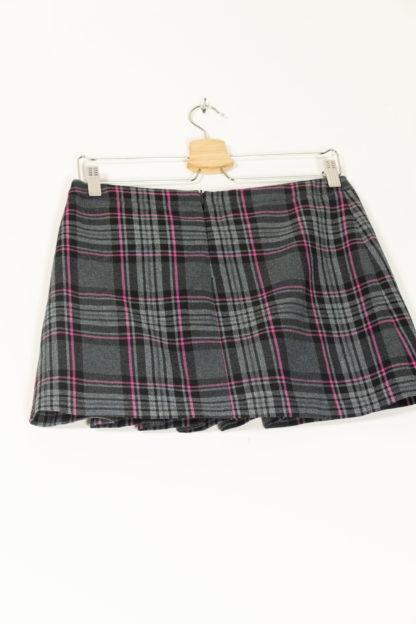jupe courte plissée à carreaux petites ceintures (5)
