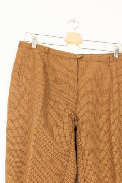 pantalon de costume à carreaux rouille (2)