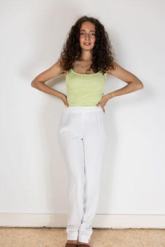 pantalon de costume à pince blanc (1)