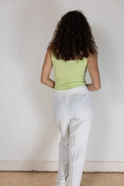 pantalon de costume à pince blanc (2)