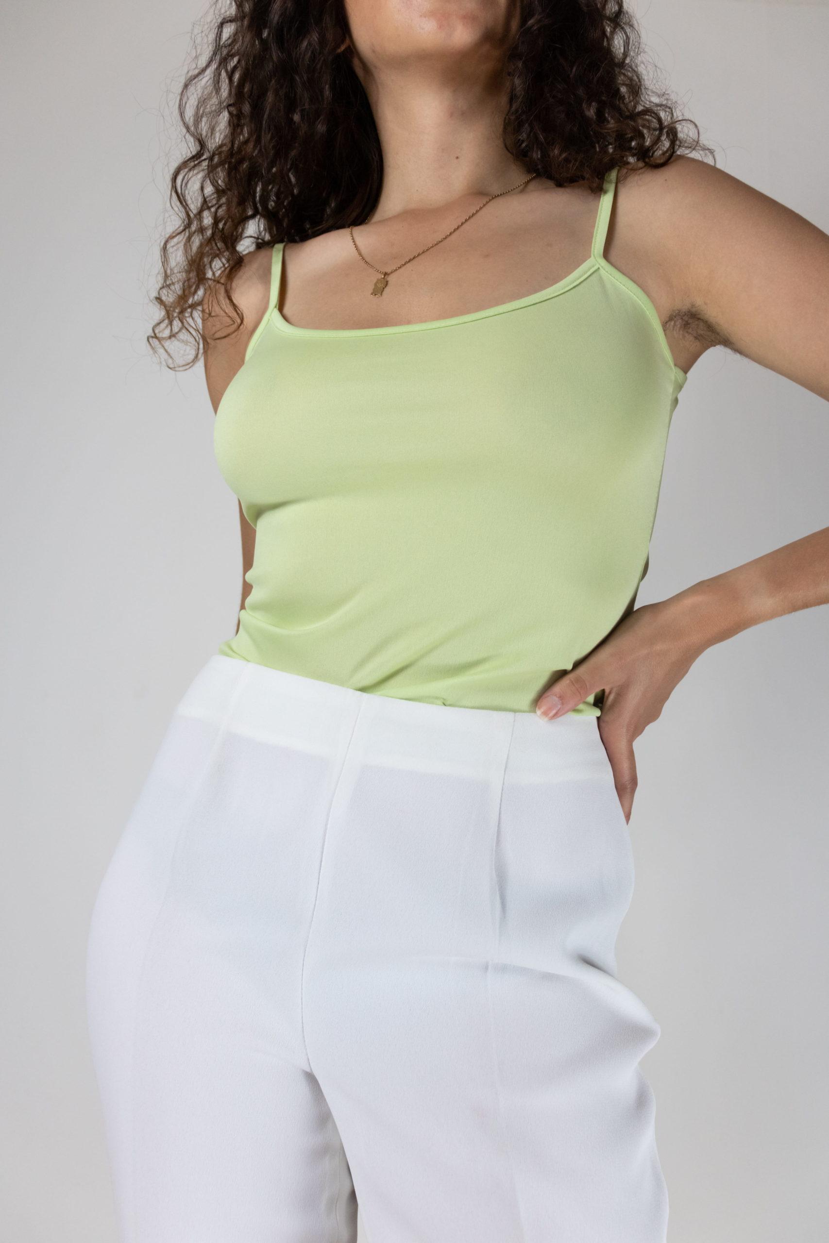 pantalon de costume à pince blanc (3)
